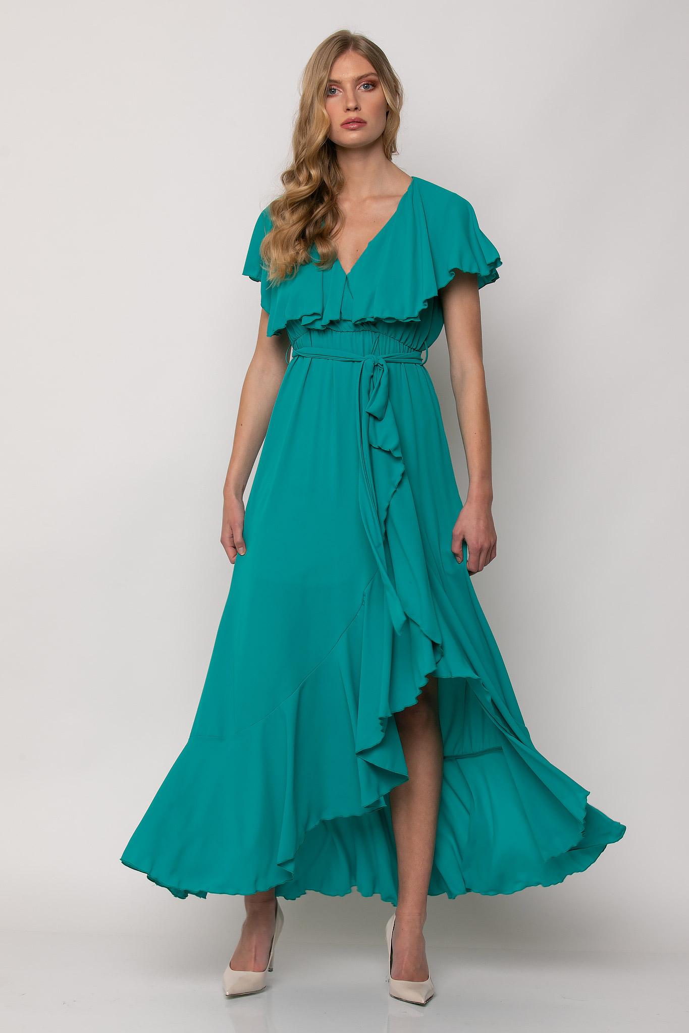 Ασύμμετρο φόρεμα με βολάν - Desiree